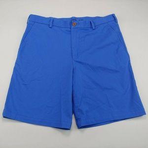 Izod Saltwater Stretch Mens Shorts Blue Flat Front